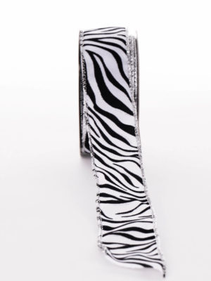 AB11P218.38-RIBBON-WHITE-BLACK-ZEBRA