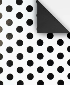KR22-WHITE-WITH-BLACK-SPOT-WRAPPING-PAPER