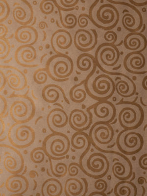 KR227-KRAFT-NATURAL-WITH-GOLD-ESCARGOT-DESIGN-PAPER