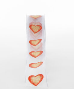 NG6201A96-RIBBON-WHITE-W-GOLD-RED-HEARTS
