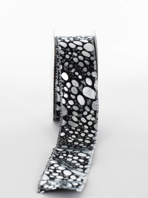 P435D02.38-RIBBON-BLACK-SILVER-SPLOTCHES