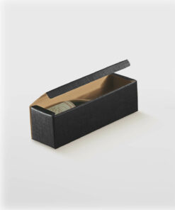 BXF13756-WINE-BOX-FLIP-LID-SIBGLE-BLACK-TEXTURED