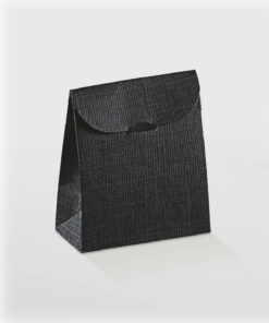 textured black sachet box