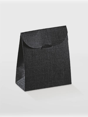 textured black sachet box