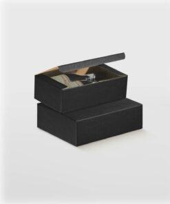 Black Wine Box With Flip Lid