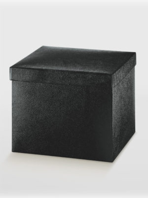 BXF33747-BOX-WITH-LID-2PC-BLACK-EMBOSSED