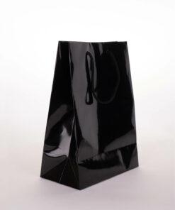 glossy black gift bag