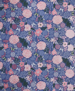 Fine Flower Garden Blue Wrapping Paper Available In Different Lengths